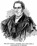 Gideon Algernon Mantell (1790-1852) English geologist who, in 1820, discovered the Iguanodon and deduced from its teeth that it was a herbivore, not a carnivore like previously known dinosaurs. Engraving published at time of his death in 1852