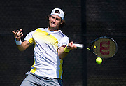 Guido Pella of Argentina returns the ball during the Dallas Tennis Classic at the Four Seasons in Las Colinas on Wednesday, March 13, 2013. (Cooper Neill/The Dallas Morning News)