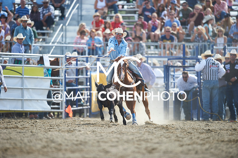 Tie-down roper Trevor Brazile of Decatur, TX competes at the Rancho Mission Viejo Rodeo in San Juan Capistrano, CA.  <br /> <br /> <br /> UNEDITED LOW-RES PREVIEW<br /> <br /> <br /> File shown may be an unedited low resolution version used as a proof only. All prints are 100% guaranteed for quality. Sizes 8x10+ come with a version for personal social media. I am currently not selling downloads for commercial/brand use.