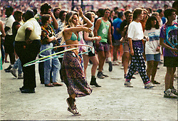 Hoola Hoop Twirler at the Grateful Dead Concert at RFK Stadium on June 14, 1991