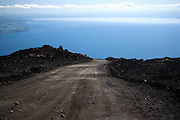 Gravel road on Osorno Volcano, Lake Llanquihue, Chile