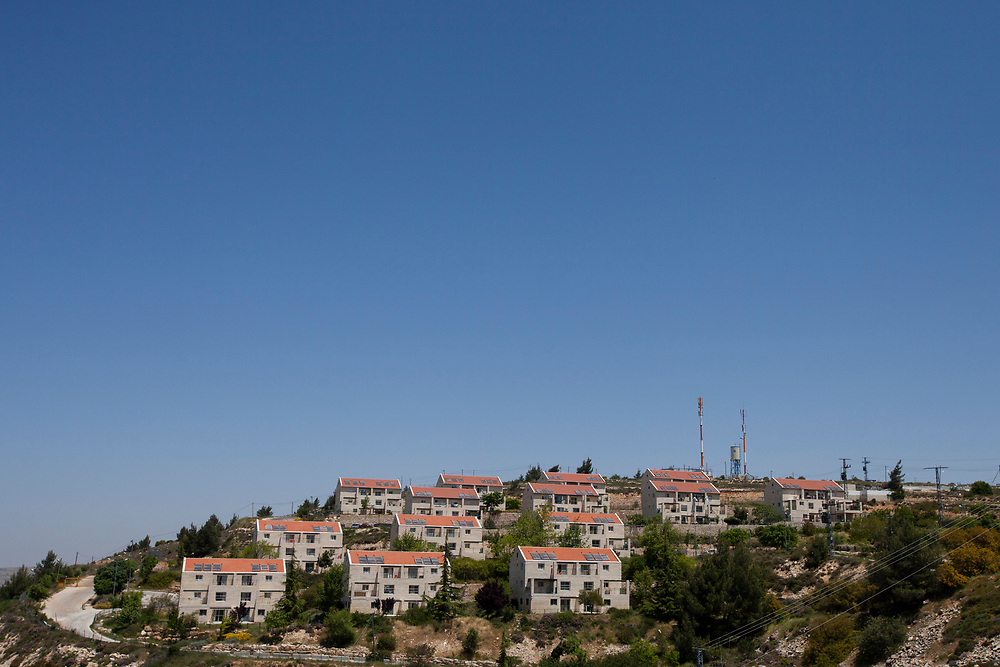 A general view of the Ulpana neighborhood in the Jewish settlement of Beit El near the Palestinian West Bank city of Ramallah, on April 27, 2012. Israel's State Attorney Office petitioned to the High Court of Justice requesting to postpone the scheduled evacuation, and demolition, of five structures that were built on land classified as private Palestinian property in the Ulpana neighborhood in the Beit El settlement, originally due to take place on May 1, by three months.