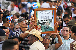 December 3, 2016 - Santiago De Cuba, CUB - Cubans wait for the arrival of Fidel Castro's ashes at the Antonio Maceo Plaza Revolucion, in Santiago de Cuba on Saturday, Dec. 3, 2016. (Credit Image: © Al Diaz/TNS via ZUMA Wire)