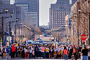 07 NOVEMBER 2020 - DES MOINES, IOWA: People at a Voters Decide rally march to the State Capitol. They were calling for all votes cast in the 2020 presidential election to be counted. They marched from downtown to the State Capitol. There were rival election rallies at the State Capitol in Des Moines Saturday. About 1,000 supporters of President Donald Trump gathered on the steps of the State Capitol and called for an end to vote counting. About 300 supporters of President Elect Joe Biden gathered in People's Plaza, on the south lawn of the Capitol, and called for the vote count to continue until every vote was counted.      PHOTO BY JACK KURTZ