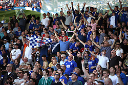 Birmingham City fans react in the stands during the match