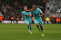 Football - 2018 / 2019 Premier League - AFC Bournemouth vs. Newcastle United<br /> <br /> Salomon Rondon of Newcastle United celebrates scoring the open goal at the Vitality Stadium (Dean Court) Bournemouth <br /> <br /> COLORSPORT/SHAUN BOGGUST