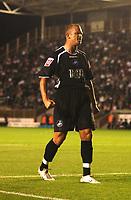 Photo: Alan Crowhurst.<br />MK Dons v Swansea. Coca Cola League 1.<br />13/09/2005. Lee Trundle celebrates his goal for Swansea.