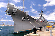 The USS Missouri. Battleship Missouri Memorial, Pearl Harbour, Hawaii RIGHTS MANAGED LICENSE AVAILABLE FROM www.PhotoLibrary.com
