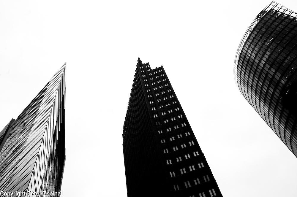 The triumvirate of Berlin. Three skyscrapers in Berlin, Germany,