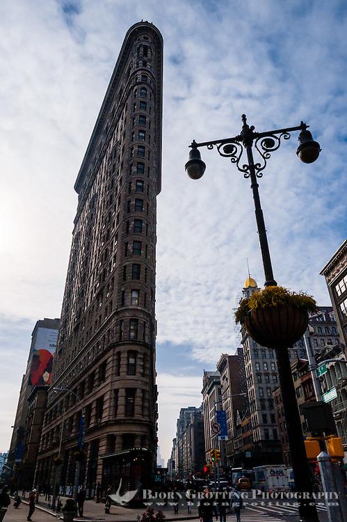 US, New York City. Flatiron Building.