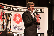 Martin Toal during the National League Gala Awards at Celtic Manor Resort, Newport, United Kingdom on 8 June 2019.