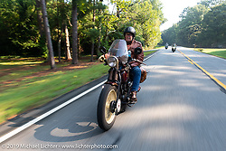 Mike Carson riding his 1930 Harley-Davidson VL in the Cross Country Chase motorcycle endurance run from Sault Sainte Marie, MI to Key West, FL. (for vintage bikes from 1930-1948). Stage-6 from Chattanooga, TN to Macon, GA USA covered 258 miles. Wednesday, September 11, 2019. Photography ©2019 Michael Lichter.
