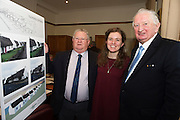 Repro FREE Paddy Kane Connemara West, Michelle Plumstead, Assistant Director, Aquinas College and Micheal O'Neill, Head of Education Connemara West at the launch of Connemara West's  ambitious International Residential Education Centre at a briefing in the Hotel Meyrick, Galway . The Centre, in the village of Tullycross, County Galway will consist of a state-of-art newly built education hub with a 50 seat auditorium; a wifi-enabled library; group study/breakout rooms; video conferencing facilities; meeting rooms; a conference room; community meeting rooms and a coffee dock. <br /> The accommodation part of the Centre will be made up of the renovated iconic 9 thatched cottages in Tullycross village, Connemara West's first project in 1973, and will hold up to 40 students and faculty.<br /> Photo:Andrew Downes, xposure