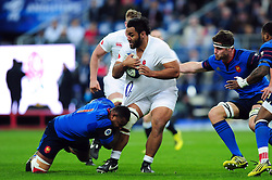 Billy Vunipola of England takes on the France defence - Mandatory byline: Patrick Khachfe/JMP - 07966 386802 - 19/03/2016 - RUGBY UNION - Stade de France - Paris, France - France v England - RBS Six Nations.