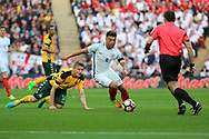 Alex Oxlade-Chamberlain of England dribbling in centre of pitch during the FIFA World Cup Qualifier group stage match between England and Lithuania at Wembley Stadium, London, England on 26 March 2017. Photo by Matthew Redman.