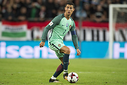 September 3, 2017 - Budapest, Hungary - Cristiano Ronaldo of Portugal during the FIFA World Cup 2018 Qualifying Round match between Hungary and Portugal at Groupama Arena in Budapest, Hungary on September 3, 2017  (Credit Image: © Andrew Surma/NurPhoto via ZUMA Press)