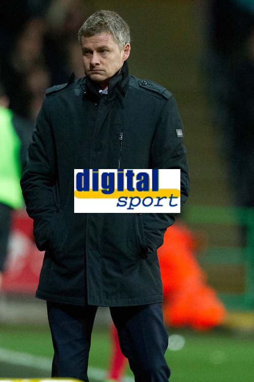 Football - 2013 / 2014 Premier League - Swansea City vs. Cardiff City<br /> <br /> Ole Gunnar Solskjaer cardiff manager, after swansea's 2nd goal in the South Wales derby match at the Liberty Stadium<br /> <br /> COLORSPORT/WINSTON BYNORTH