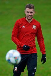 CARDIFF, WALES - Monday, November 19, 2018: Wales' Aaron Ramsey during a training session at the Vale Resort ahead of the International Friendly match between Albania and Wales. (Pic by David Rawcliffe/Propaganda)