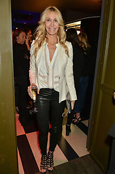 MELISSA ODABASH at a party to celebrate the 1st anniversary of Hello! Fashion Monthly magazine held at Charlie, 15 Berkeley Street, London on 14th October 2015.