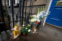 Floral tributes were left outside the Institut français d'Écosse  in Randolph Crescent in Edinburgh today in memory of the 84 killed in Nice yesterday<br /> <br /> (c) Ger Harley | Edinburgh Elite media