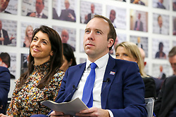 © Licensed to London News Pictures. 25/06/2021. London, UK. Secretary of State for Health and Social Care Matt Hancock admits breaking social distancing rules after The Sun published pictures of him with aide Gina Coladangelo. Mr Hancock and Ms Coladangelo seen here in 2019.  Photo credit: Dinendra Haria/LNP