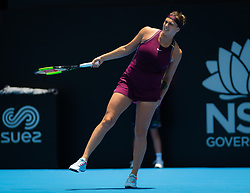 January 8, 2019 - Sidney, AUSTRALIA - Aryna Sabalenka of Belarus in action during her first round match at the 2019 Sydney International WTA Premier tennis tournament (Credit Image: © AFP7 via ZUMA Wire)