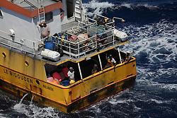 INDIAN OCEAN 27APR13 - Fishing vessel Le Bigouden, registered in La Reunion in the Indian Ocean.<br /> <br /> The Greenpeace ship Esperanza is on patrol documenting fishing activities in the Indian Ocean.<br /> <br /> jre/Photo by Jiri Rezac / Greenpeace