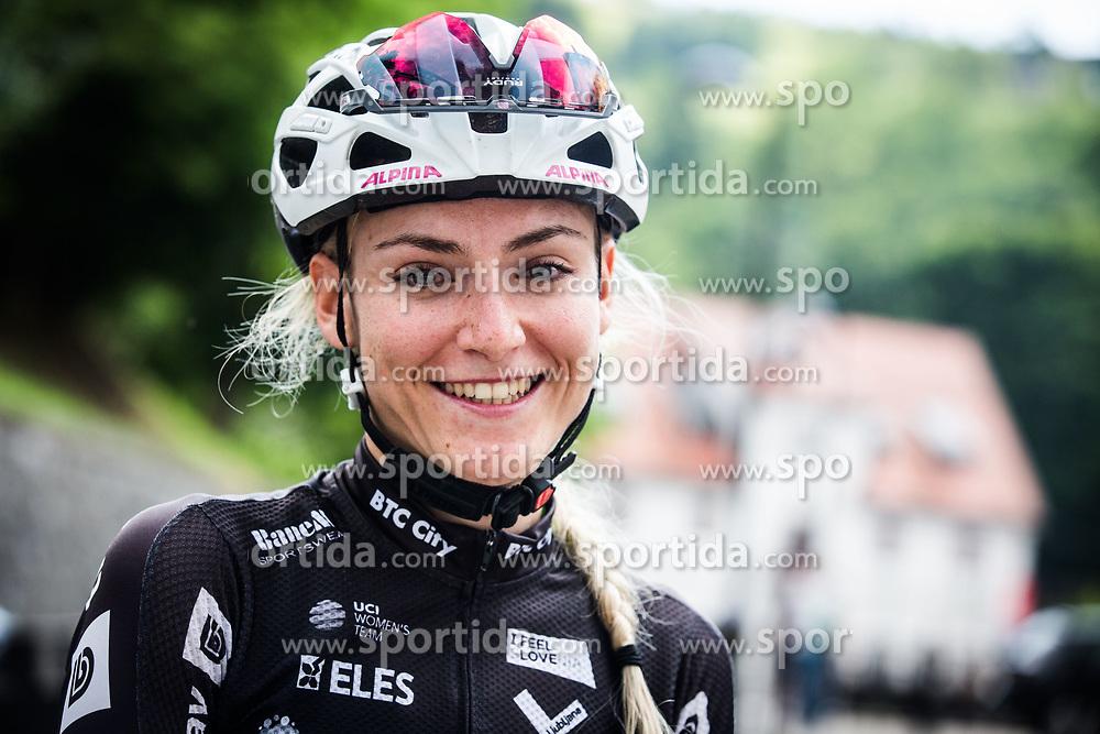Urska Zigart of BTC City Ljubljana (SLO) after 3rd Stage of 26th Tour of Slovenia 2019 cycling race between Zalec and Idrija (169,8 km), on June 21, 2019 in Slovenia. Photo by Peter Podobnik / Sportida