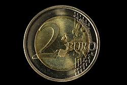 09.09.2013, Stuttgart, GER, Euro Muenze, Sonderpraegung 2013, im Bild Vorderseite 2-EURO Muenze, Muenzgeld // Euro coin, special edition 2013, Stuttgart, Germany on 2013/09/09. EXPA Pictures © 2013, PhotoCredit: EXPA/ Eibner/ Michael Weber<br /> <br /> ***** ATTENTION - OUT OF GER *****
