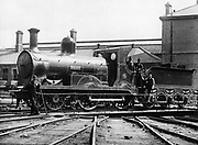 Midlands and Great Western Railway (Ireland) 2-4-0 locomotive 'Rob Roy' built by Neilson & Co. 1873. Photograph.