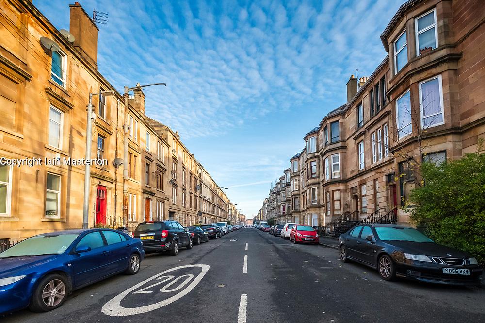 Annette Street in  Govanhill district of Glasgow, Scotland, United Kingdom