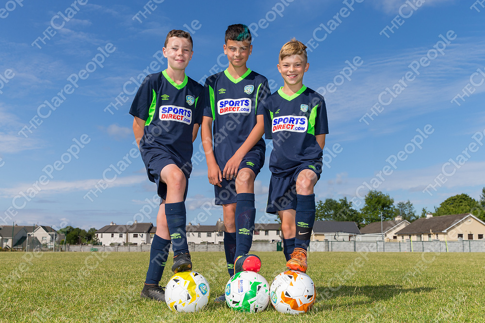 Jack O'Halloran, Ben Maxwell and Marcus Joyce from Sixmilebridge