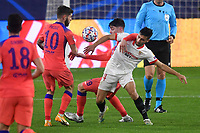 SEVILLE, SPAIN - DECEMBER 02: Oscar Rodriguez of FC Sevilla and Kai Havertz of Chelsea FC during the UEFA Champions League Group E stage match between FC Sevilla and Chelsea FC at Estadio Ramon Sanchez-Pizjuan on December 2, 2020 in Seville, Spain. (Photo by Juan Jose Ubeda/MB Media)