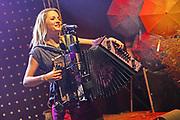 Auftritt von Melissa Naschenweng anlässlich der «Schlagertage Sedrun 2017». Sedrun, 09. September 2017.