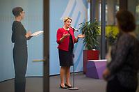 DEU, Deutschland, Germany, Berlin, 05.09.2019: Bundesfamilienministerin Dr. Franziska Giffey (SPD) bei der Vorstellung einer Statistik zum Unterhaltsvorschuss.