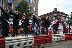 14 September 2017 -  UEFA Europa League (Group H) - Arsenal v FC Koln - FC Koln fans drinking and dancing in the street in Islington  - Photo: Mark Leech/Offside