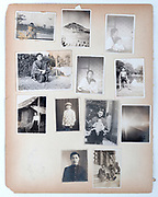 pages from a Japan 1940s family photo album