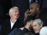 Football - 2018 / 2019 UEFA Champions League - Round of Sixteen, Second Leg: Paris Saint-Germain (2) vs. Manchester United (0)<br /> <br /> Didier Deschamps, at Parc des Princes, Paris.<br /> <br /> COLORSPORT/IAN MACNICOL