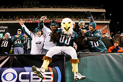 Philadelphia Eagles Mascot Swoop interacts with fans during the NFL game between the Denver Broncos and the Philadelphia Eagles on December 27th 2009. The Eagles won 30-27 at Lincoln Financial Field in Philadelphia, Pennsylvania. (Photo By Brian Garfinkel)