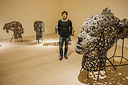 """Departure, the first UK solo exhibition of artist Xavier Mascaró (pictured). Highlights include: an installation of boats made from bronze and iron """"which are evocative of long-forgotten shipwrecks""""; iron portraits of a young woman from the Eleonora series (pictured) """"reminiscent of the profiles on ancient coins""""; delicate metal works """"resembling votive figures from his Idols series""""; and his Guardians series, of 10 feet high rusted iron warriors """"inspired by medieval armour and ancient Egyptian and Greek art"""".  The latter being the first outdoor installation by the Gallery since moving to Chelsea. The show runs from 3 September until 5th October at The Saatchi Gallery, Chelsea, London. 01 September 2014."""