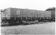 """3/4 view of D&RGW high-side gondola #9250.<br /> D&RGW    <br /> In book """"Narrow Gauge Pictorial, Vol. III: Gondolas, Boxcars and Flatcars of the D&RGW"""" page 78<br /> Grandt's book attributes this shot to Gerald M. Best on July 8, 1941 at Alamosa."""