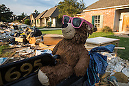 Denham Springs, Louisiana on Sept 1, 2016. Contents from homes and buisinesses line the street in the floods aftermath.