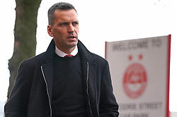 Aberdeen manager Stephen Glass arrives to the ground ahead of the cinch Premiership match at Pittodrie Stadium, Aberdeen. Picture date: Sunday October 3, 2021.