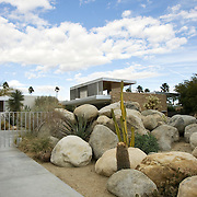 The Kaufmann House, a 1946 glass, steel and stone landmark built by the architect Richard Neutra is still a landmark for fans of mid-century modern architecture traveling through Palm Springs, CA.