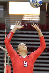 19 August 2017:  Stef Jankiewicz during a college women's volleyball match Scrimmage of the Illinois State Redbirds at Redbird Arena in Normal IL (Photo by Alan Look)