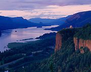 Vista House sitting 725 above the Columbia River, Crown Point along the scenic Crown Higway, Columbia River Gorge, Oregon.