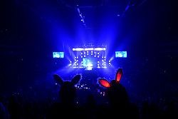 The audience watching David Guetta on stage during day one of Capital's Jingle Bell Ball 2018 with Coca-Cola at the O2 Arena, London. Picture Credit Should Read: Doug Peters/EMPICS Entertainment