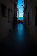 "Passatge del Mar. Pathway to the Mediterranean. Sant Pol de Mar, Catalonia This mage can be licensed via Millennium Images. Contact me for more details, or email mail@milim.com For prints, contact me, or click ""add to cart"" to some standard print options."