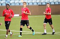 Fotball , 9. september 2013 , trening Norge U21 , Norway U21 , training<br /> <br /> Markus Henriksen - AZ Alkmaar <br />  Mushaga Bakenga - Club Brugge <br /> Veton Berisha - Viking FK