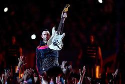 Adam Levine and Travis Scott perform during the Pepsi Super Bowl LIII Halftime Show at Mercedes-Benz Stadium on February 3, 2019 in Atlanta, Georgia. Photo by Lionel Hahn/ABACAPRESS.COM